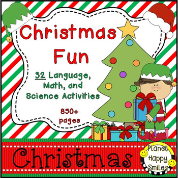 Christmas Activities Bundle ~ 22 Fun Language and Math Activities