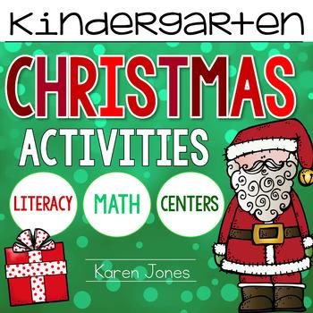 Christmas Activities for Kindergarten with ELA & Math Comm