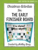 Christmas Activities {for the Early Finisher Board}