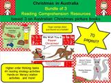 Christmas in Australia (Bundle of 3 picture book comprehen
