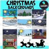 Christmas Background Scenes Clip Art Bundle