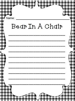 FREE Christmas Bear In a Chair Journal - Your Bear Reports