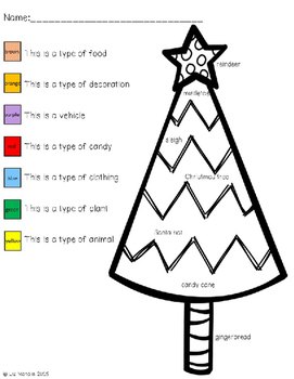 FREEBIE Christmas Class Indentification Coloring Page for