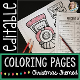 Editable Christmas Coloring Pages {For Personal Use}