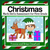 Christmas Common Core Math Skills Assessment (1st Grade)