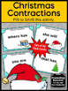 Christmas Literacy Center Task Cards Grammar Contractions
