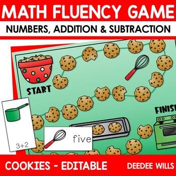 Math Fluency:  Christmas Cookies