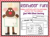 Christmas Craftivity { reindeer craft and writing printables }