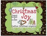 Christmas Digital Clip Art: Accents, Borders & Frames