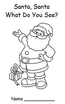 Christmas Emergent Reader - Santa, Santa, What Do You See?