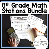 8th Grade Math Stations Bundle