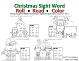 Christmas First Grade Mini Unit Sight Word Roll and Color