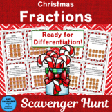 Christmas Fractions Scavenger Hunt