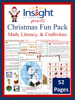 Christmas Fun Pack - Math, Literacy & Fun, K-3