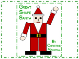 Christmas Geometric Shape Santa