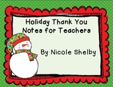 Christmas Gift Thank You Note Freebie