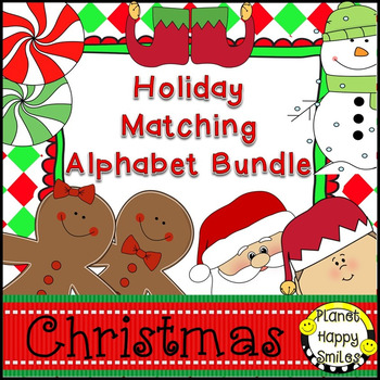 Christmas Activity ~ Alphabet Matching Bundle