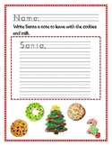 Christmas Kindergarten Writing Freebie