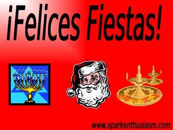 Christmas (La Navidad) Vocabulary Power Point (45 slides)