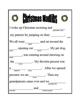 Christmas Madlib