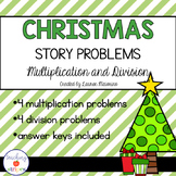 Christmas Multiplication & Division Story/Word Problems