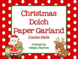 Christmas Paper Garlands with Dolch Words Combo Pack
