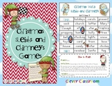 Christmas Sleighs and Chimneys Vocabulary Games 3 Levels w