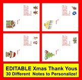 Christmas Thank You Notes to Personalize and Print+Gift Re