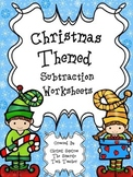 Christmas Themed Subtraction Worksheets