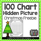 Free Christmas Tree Hidden Picture 100s Chart