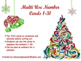 Christmas Tree Number Cards