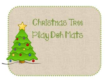 Christmas Tree PlayDoh Mat