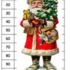 Christmas Tree Santa skip counting 10s to 100 St. Nicholas