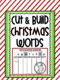Christmas Word Building- Cut and Build