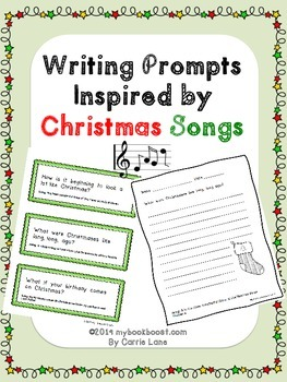 https://www.teacherspayteachers.com/Product/Writing-Prompts-Inspired-by-Christmas-Songs-1462859