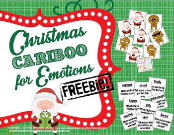 Christmas themed Cariboo for Emotions FREEBIE!