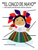 Cinco de Mayo Body Parts Label and Color By Number in Spanish