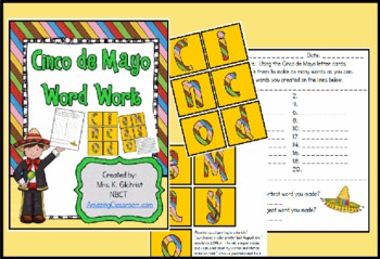 Cinco de Mayo Word Work Center Station Activity - FREE