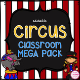 Circus Theme Classroom MEGA Bundle (editable)