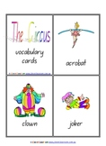 Circus Vocabulary/Flash Cards - 6 pages