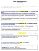 Citation of Internet Resources Technology Lesson Plan & Materials