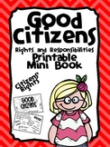 Citizenship Printable Activity Book- Rights and Responsibilities