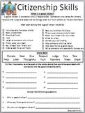 Citizenship Skills Worksheet