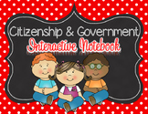 Citizenship and Government Interactive Notebook for 2nd grade