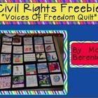 Civil Rights Quilt:  FREEBIE