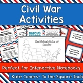 Civil War Activities Pack- Perfect for Interactive Notebooks