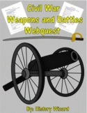 Civil War Weapons and Battles Webquest (Great Lesson Plan)