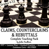 How to Write Claims, Counterclaims, Rebuttals Argument -PP