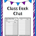 Class Book Chat: printable to track class book opinions / reviews