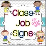 Class Job Signs - Chevron